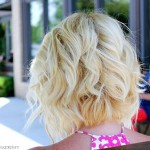 Back View of the Angled Piecey Bob Haircut - Wavy Bob Cut for 2018