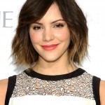 Katharine McPhee Short Ombre Bob Hairstyle with Pony