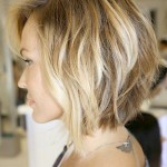 Reverse Bob with Loose Waves - Side View of Bob Cut