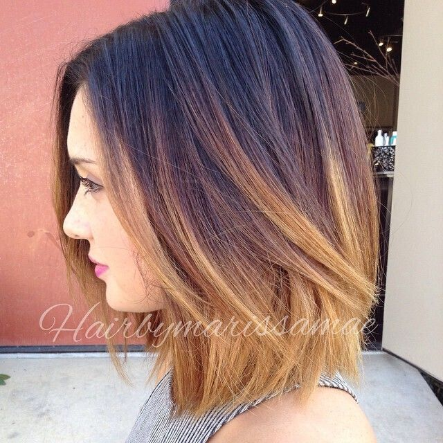 short ombre bob hairstyle for the summer
