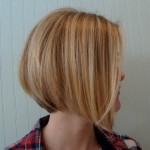 Side view of graduated Bob Cut - short hairstyle for women