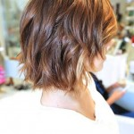 Side view of the short layered Ombre Hair