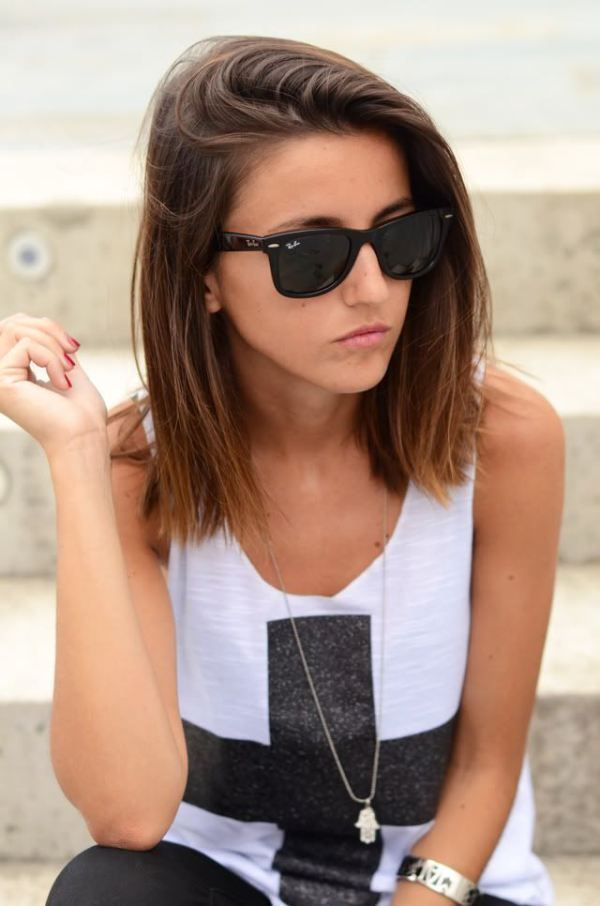 back to school Ombre Bob hairstyle for short hair