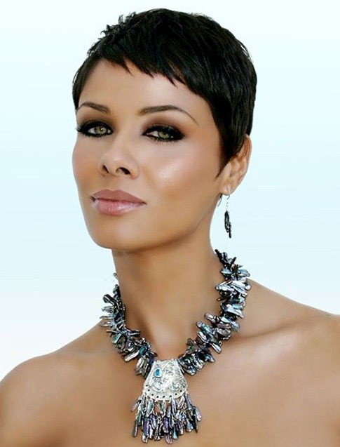 Short black pixie cut for black women