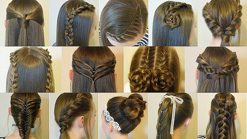Easy Hairstyles For Long Hair To Do At Home Videos Unique 14 Simple Hairstyles For School Pilation 2 Weeks Heatless