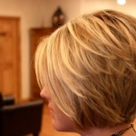 Side view of nice layered Bob Cut
